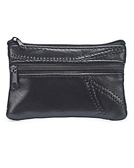 Leather Coin Purse Black