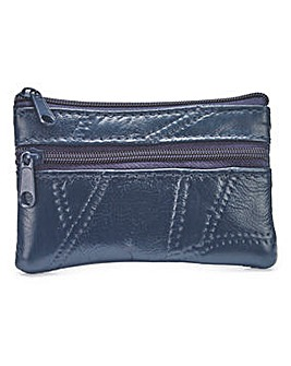 83b790d7601 Leather Coin Purse Navy