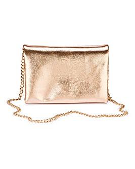 Rose Gold Multi Compartment Clutch Bag