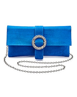 Joanna Hope Cobalt Diamante Clutch Bag