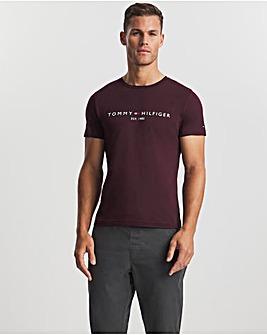 Tommy Hilfiger Deep Burgundy Short Sleeve Logo T-Shirt