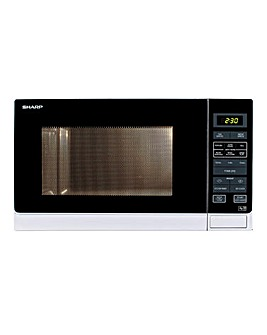 Sharp R372WM 25 Litre Digital White Microwave