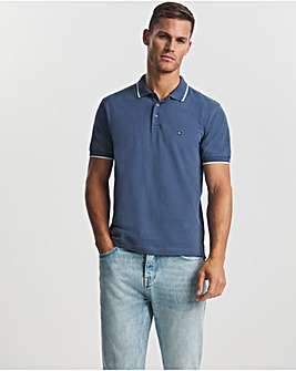 Tommy Hilfiger Faded Indigo Tipped Collar Polo