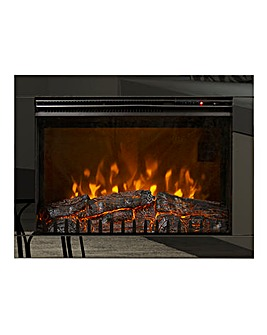 Be Modern Adali Black Nickel Wall Mounted Electric Fire