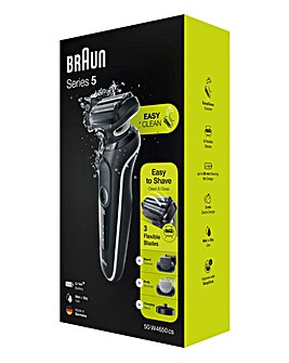 Braun Series 5 W4650 Wet & Dry Rechargeable Shaving Kit