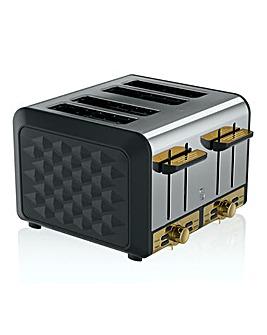 Swan Gatsby 4 Slice Black Toaster