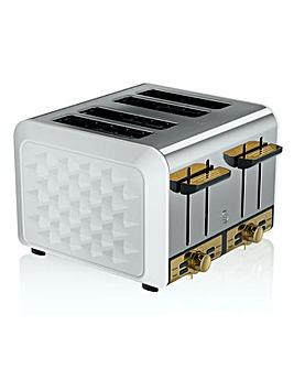 Swan Gatsby 4 Slice White Toaster