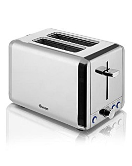 Swan 2 Slice Polished Stainless Steel Toaster