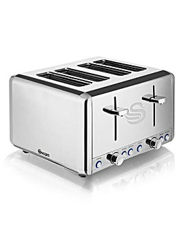 Swan 4 Slice Polished SS Toaster