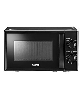 Tower Black Manual Microwave
