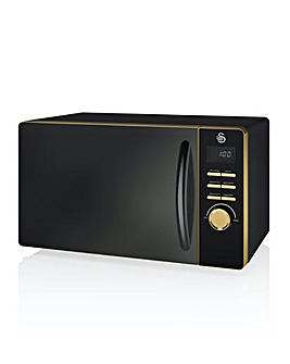 Swan Gatsby 20Litre 800W Digital Microwave - Black