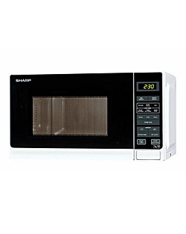 Sharp R272WH 20Litre Digital Microwave - White