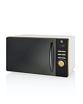 Swan Gatsby 20Litre 800W Digital Microwave - White