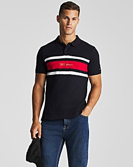 Tommy Hilfiger Short Sleeve Signature Stripe Polo