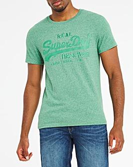 Superdry Vintage Label Tonal Embroidered T-Shirt