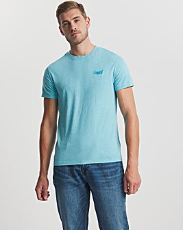 Superdry Vintage Label Short Sleeve Embroidered Logo T-Shirt