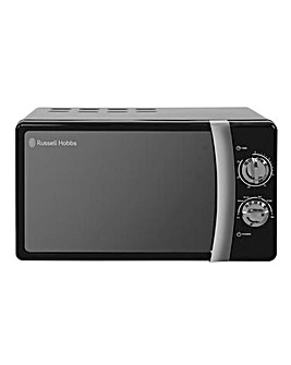 Russell Hobbs RHMM701B 17Litre Colours Manual Microwave - Black