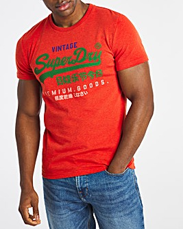 Superdry Vintage Label Tri Colour Logo T-Shirt
