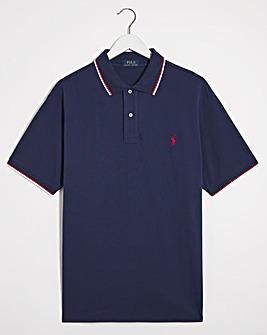 Polo Ralph Lauren Navy Short Sleeve Tipped Collar Polo