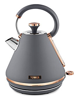 Tower Cavaletto T10044RGG 1.7 Litre Pyramid Grey and Rose Gold Kettle