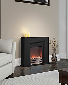 Warmlite Cantebury Black Fire Suite