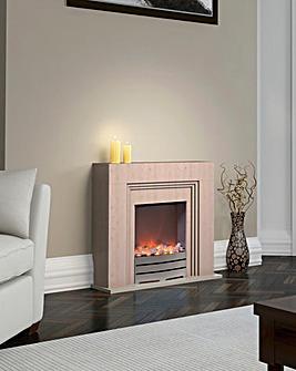 Warmlite Cantebury Beech Effect Fire Suite