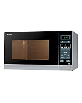 Sharp R372SLM 25Litre 900W Digital Silver Microwave