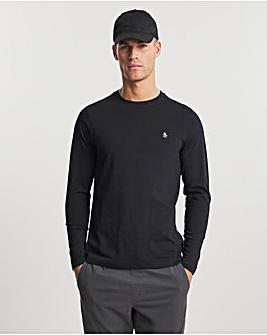 Original Penguin Long Sleeve Pinpoint T-Shirt