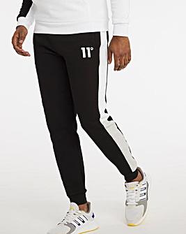 11 Degrees Black Grey White Boxy Block Regular Fit Joggers