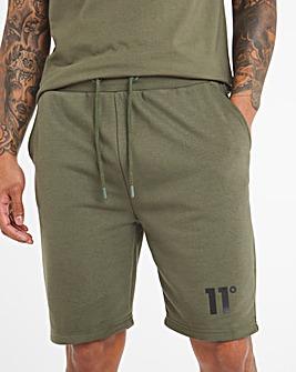 11 Degrees Khaki Core Sweat Shorts