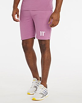 11 Degrees Berry Mist Core Sweat Shorts