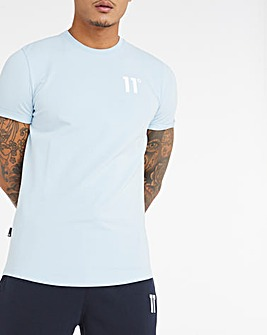 11 Degrees Powder Blue Core Muscle Fit Short Sleeve T-Shirt