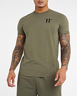 11 Degrees Khaki Core Muscle Fit Short Sleeve T-Shirt