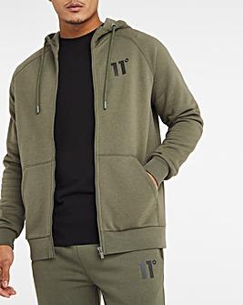 11 Degrees Khaki Core Full Zip Hoodie