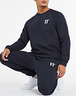 11 Degrees Navy Core Sweatshirt