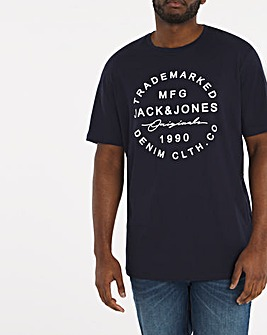 Jack & Jones Geo Central Logo T-Shirt
