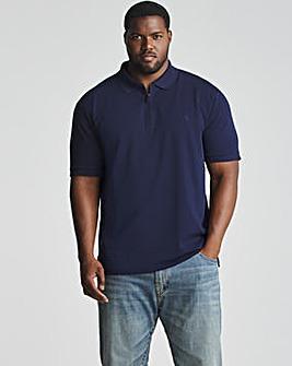 Polo Ralph Lauren Navy Short Sleeve Zip Polo