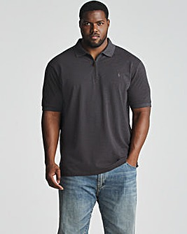 Polo Ralph Lauren Dark Grey Short Sleeve Zip Polo