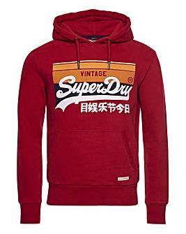 Superdry Vintage Label Cali Stripe Logo Hoodie
