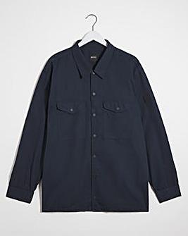 BOSS Dark Blue Pocket Overshirt