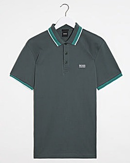 BOSS Dark Green Short Sleeve Regular Fit Paddy Polo