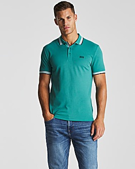 BOSS Turquoise Short Sleeve Regular Fit Paddy Polo
