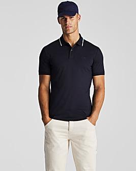 BOSS Dark Blue Short Sleeve Regular Fit Jersey Polo