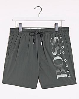 BOSS Dark Green Logo Swim Short