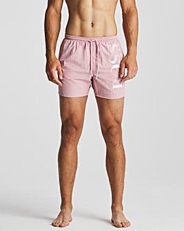 BOSS Pink Logo Swim Short