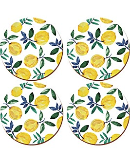 Creative Tops Lemons 4 Round Placemats