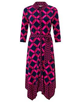 Monsoon Gabby Geo Print Shirt Dress