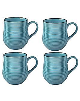 Brights Colour Mug Blue x 4