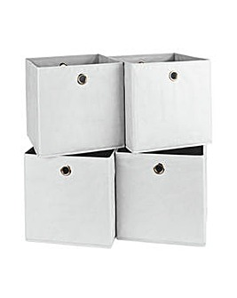 Set of 4 Squares Boxes - Off-White
