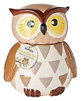 Ceramic Barney Barn Owl Cookie Jar
